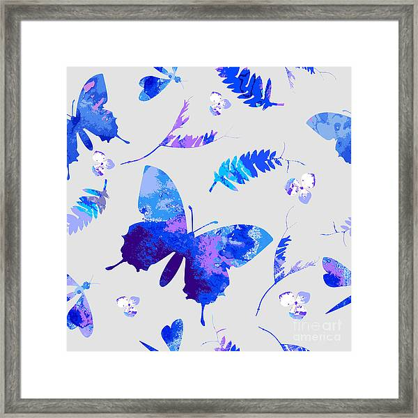 Vector Floral Watercolor Texture Framed Print