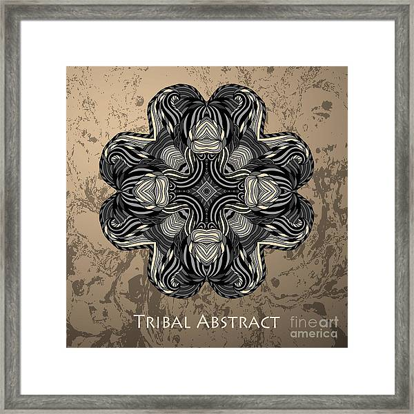 Vector Tribal Abstract Element For Framed Print