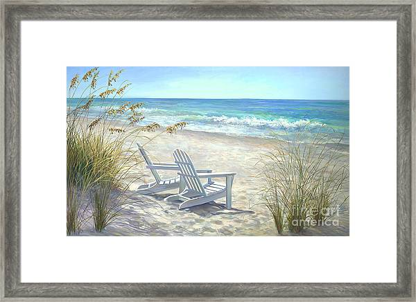 View For Two. Framed Print