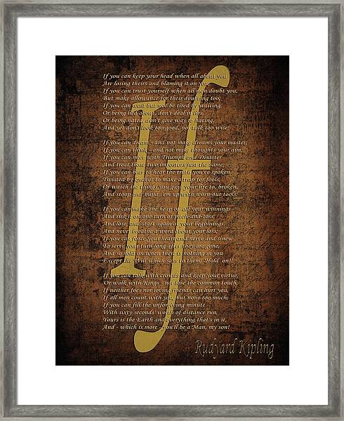 Vintage Poem 3 Framed Print