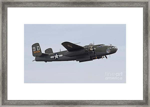Vintage World War II Bomber Framed Print