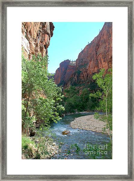 Virgin River Rapids Framed Print