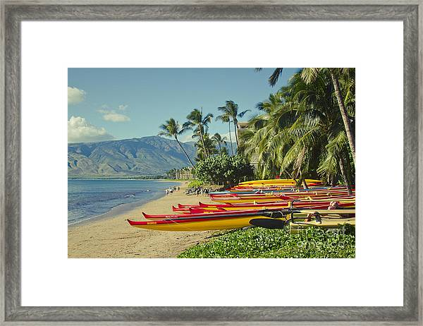 Kenolio Beach Sugar Beach Kihei Maui Hawaii  Framed Print