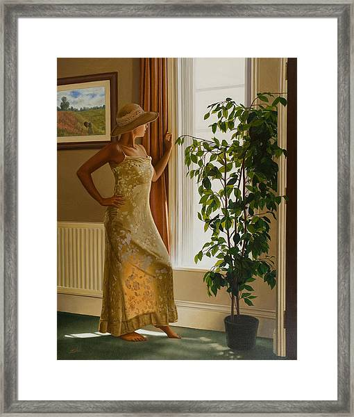 Waiting For Her Lover Framed Print