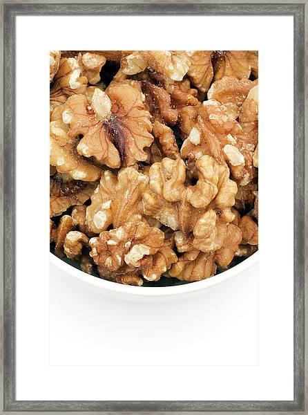 Walnuts Framed Print by Geoff Kidd/science Photo Library