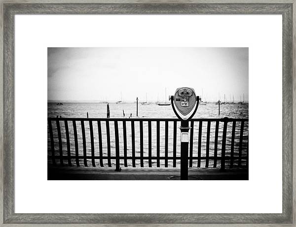 Framed Print featuring the photograph Watching Waiting by Steve Stanger