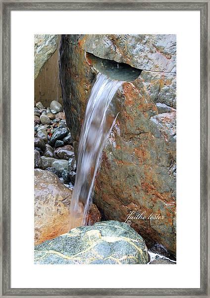 Water And Rocks II Framed Print