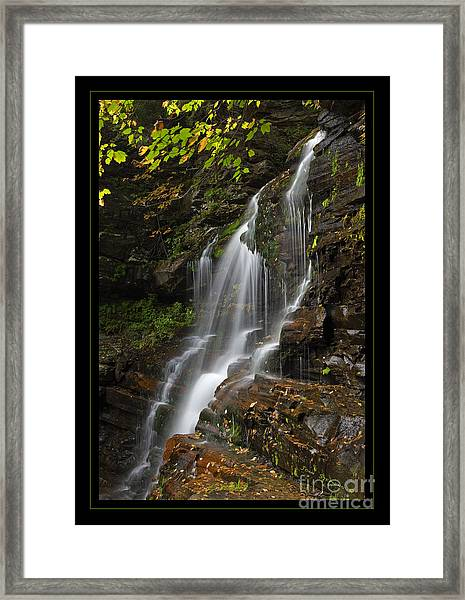 Water On The Mountain Framed Print