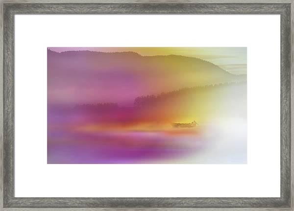 Watercolor Seascape Framed Print