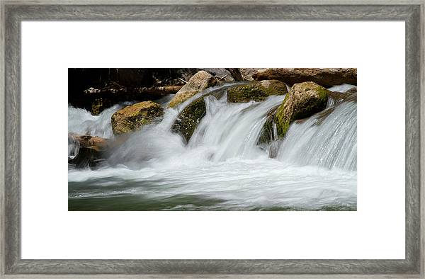 Waterfall - Zion National Park Framed Print