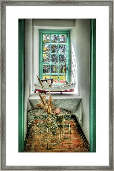 Framed Print featuring the photograph Watermans Window by Williams-Cairns Photography LLC