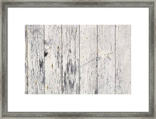 Weathered Paint On Wood Framed Print