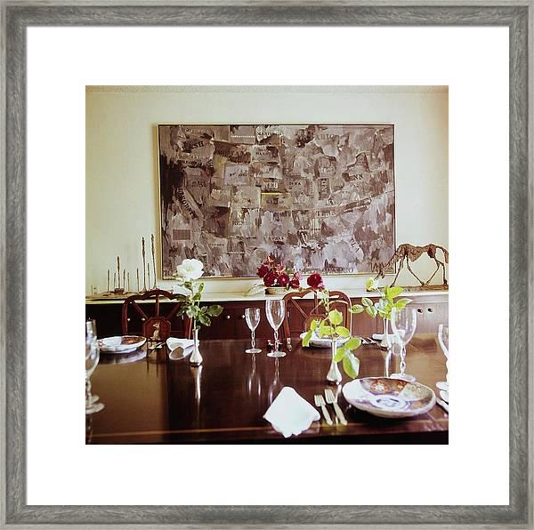 Weisman's Dining Room Framed Print