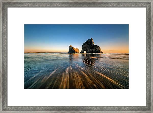 Wharaiki Beach Framed Print