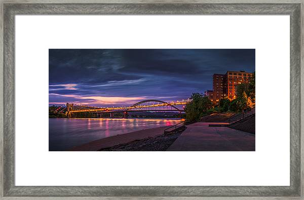 Wheeling Suspension Bridge  Framed Print
