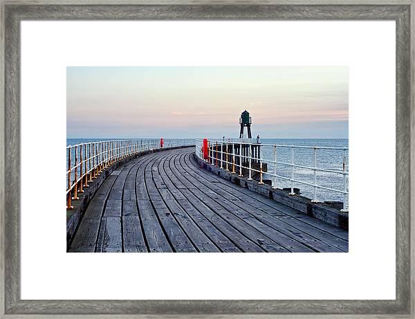 Whitby Pier Framed Print