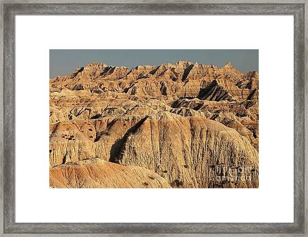 White River Valley Overlook Badlands National Park Framed Print