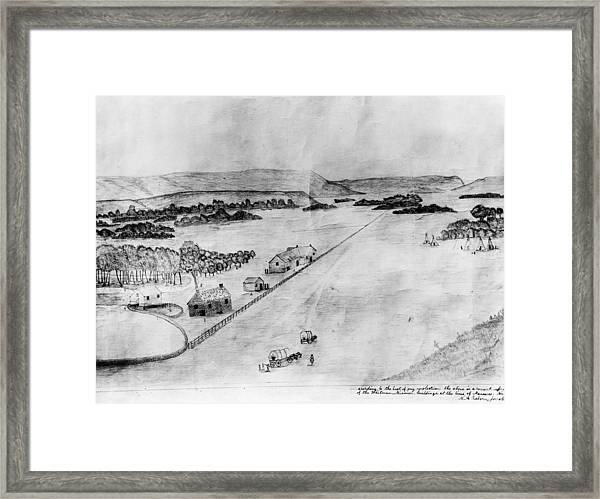 Whitman Mission, 1847 Framed Print