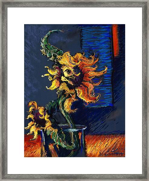 Wild Sunflowers Framed Print