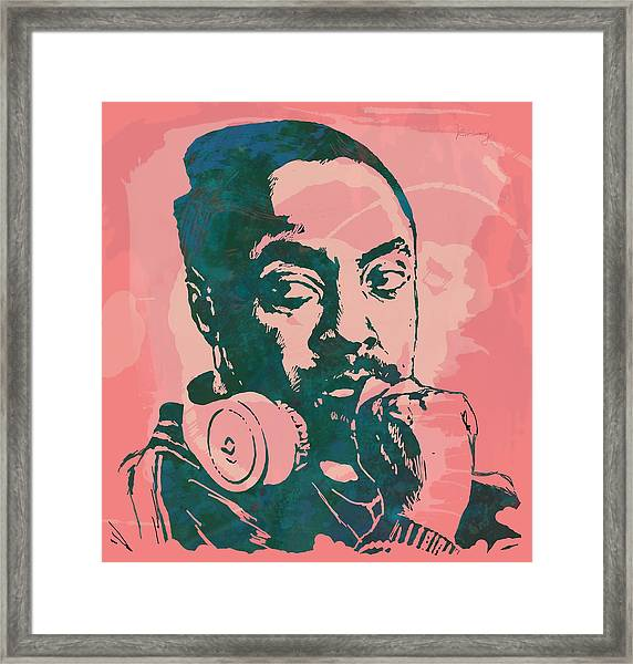 Will.i.am - Stylised Etching Pop Art Poster Framed Print