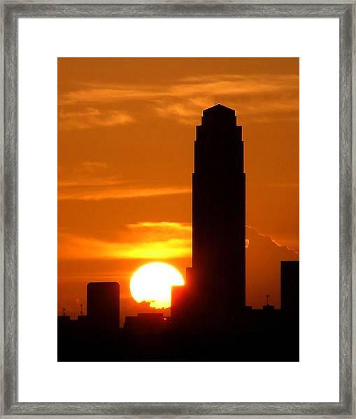 Williams Tower Sunset Framed Print