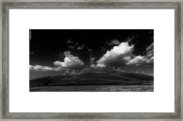 Windmill Electric Power Station Framed Print
