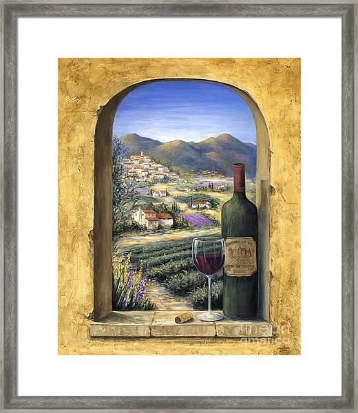 Wine And Lavender Framed Print
