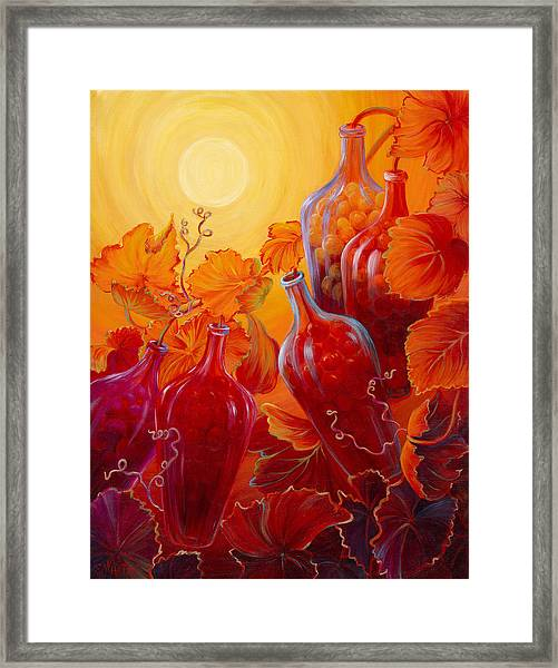 Wine On The Vine II Framed Print