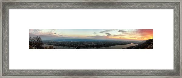 Winona Sunrise Panorama Framed Print
