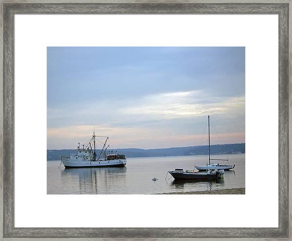 Wolf Larsen Boat Framed Print