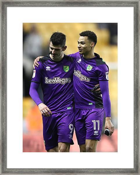 Wolverhampton Wanderers V Norwich City - Sky Bet Championship - Molineux Framed Print by Nick Potts - PA Images