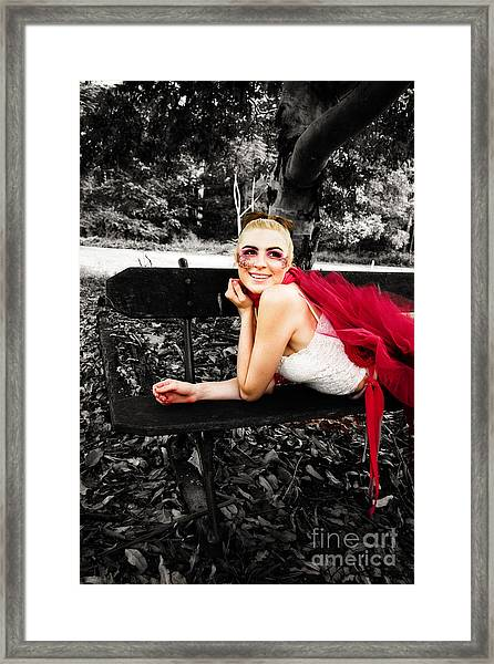 Woman In Tutu Framed Print