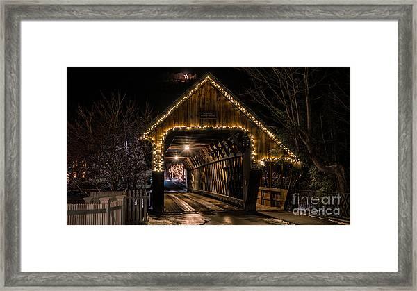 Woodstock Middle Bridge. Framed Print
