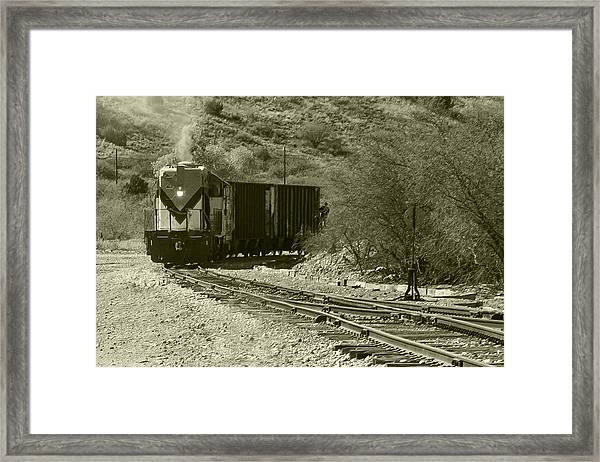 Work Train In Clarkdale Arizona Framed Print