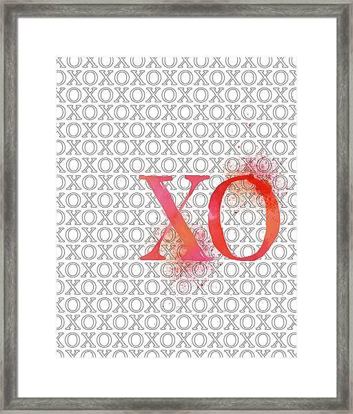 Xo Framed Print by Amy Cummings