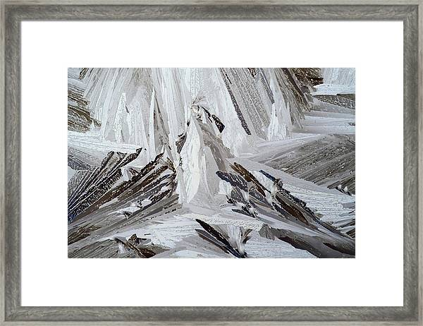 Xylose Crystals Framed Print