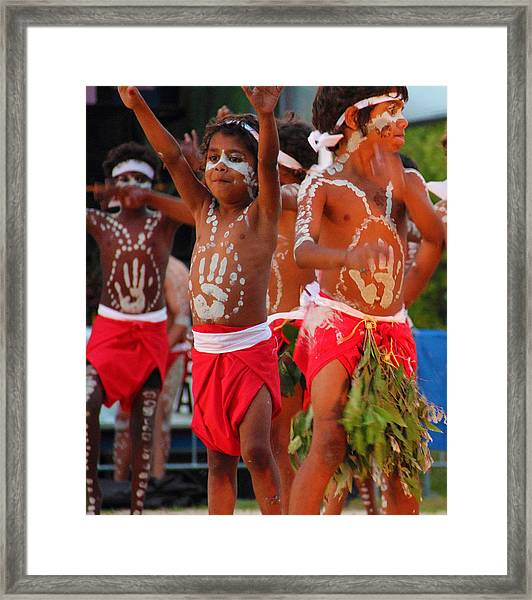 Framed Print featuring the photograph Yarrabah Boys by Debbie Cundy