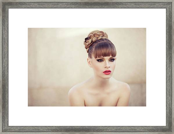 Young Beautiful Woman Framed Print by Coffeeandmilk