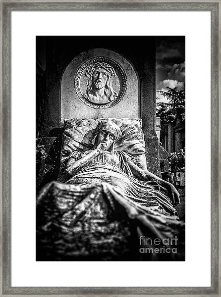 Cemetery Of Mantova Framed Print