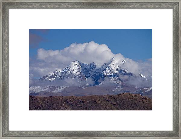 Framed Print featuring the photograph Himalaya Range  by Raimond Klavins