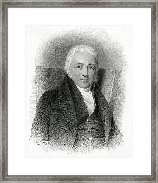 Samuel Taylor Coleridge  English Poet Framed Print by Mary Evans Picture Library