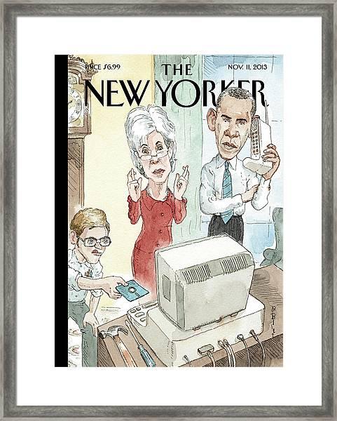 New Yorker November 11th, 2013 Framed Print by Barry Blitt