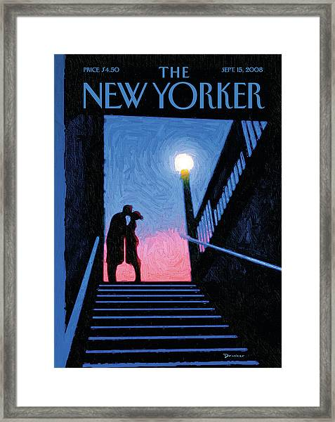 New Yorker Moment Framed Print