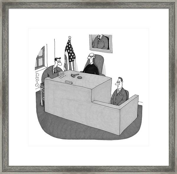 My Witness Doesn't Understand Me Framed Print