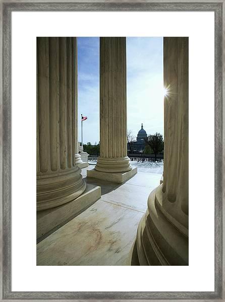 Usa, Washington, D Framed Print
