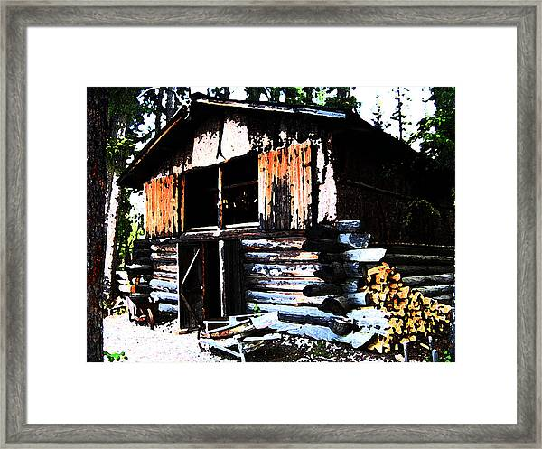1000076 Salmon Smoke House Framed Print