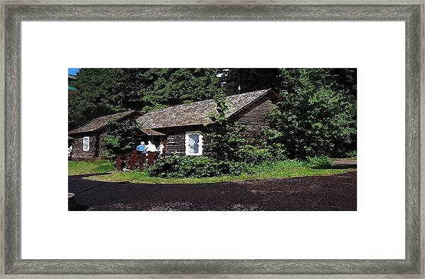 10004600133 Lake Mcdonald Outer Cabins Framed Print