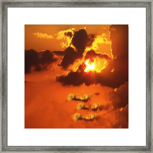 1002206 Louisiana Sun Set Framed Print