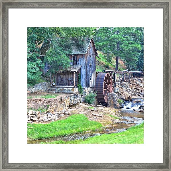 Sixes Mill On Dukes Creek - Square Framed Print