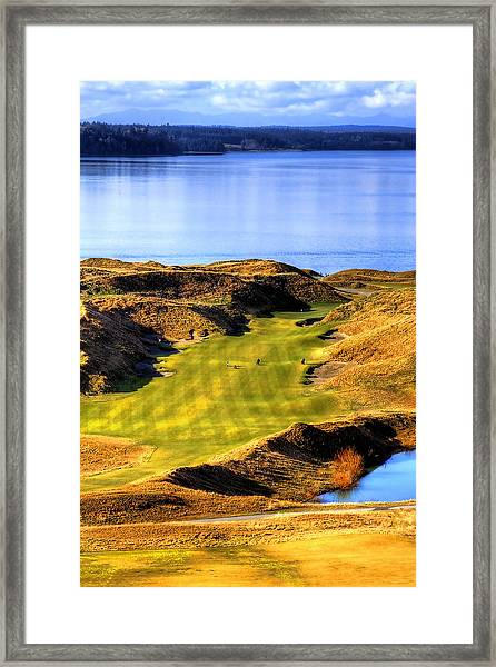 10th Hole At Chambers Bay Framed Print